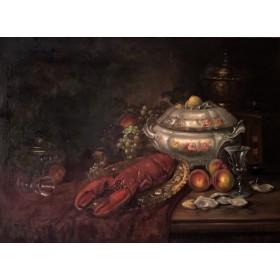 Крупный натюрморт с омаром