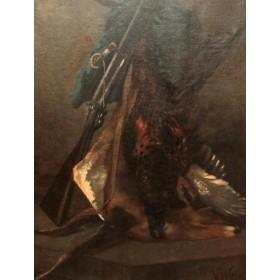 Антикварный охотничий натюрмрт