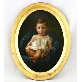 Детский портрет на фарфоре