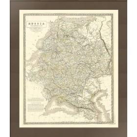 Карта Европейская Россия 1843 год Александр Кейт Джонстон