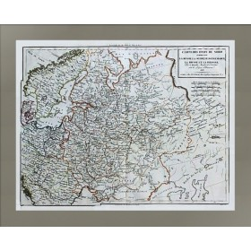 Старинная карта северных стран Европы XIX века
