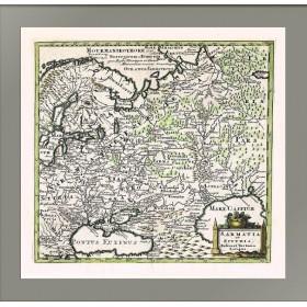 Карта Сарматия и Скифия, Русь и Тартария Европейская, XVII в.