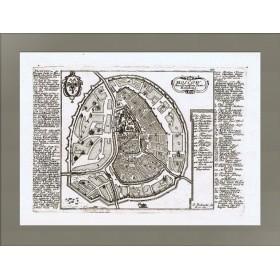 Карта XVIII века Москва резиденция царя России