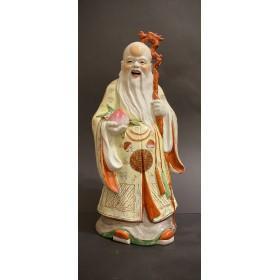 Фарфоровая статуэтка Шоу-син с посохом