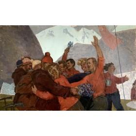 Картина А.Т. Гапоненко Покорители вершин