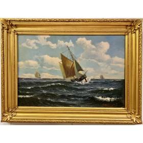 Картина Яхты и море