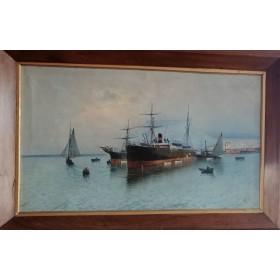 Морской пейзаж Штиль. Англия, XIX век.