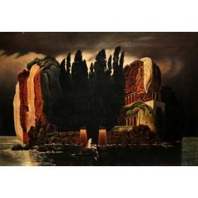 Старинная картина Остров Мертвых