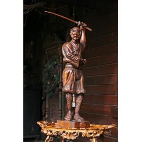 Антикварная скульптура самурай Святой меча