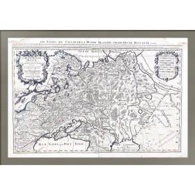 Старинная карта Белая Русь или Московия