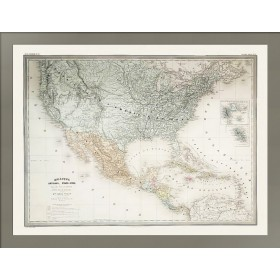 Антикварная карта Мексика, Карибский бассейн и США