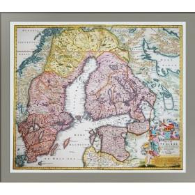 Карта Швеция и северо-запад России