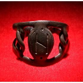 Антикварное кольцо скандинавского Тула Hagalaz
