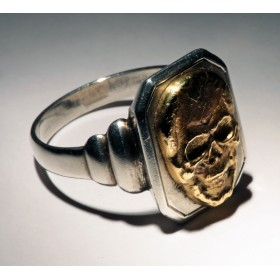 Антикварное кольцо Череп 5