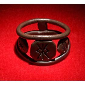 Антикварное кольцо скандинавского Тула bind-runir В