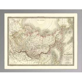 Карта Россия в Азии и Америке 1832
