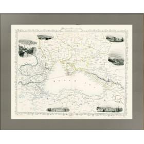 Карта Черного моря 1855 года выпуска