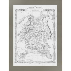Карта 1855 года, демонстрирующая рост России со времен Петра 1
