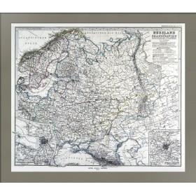 Антикварная карта Россия и Скандинавия