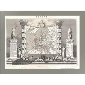 Антикварная карта Европы 1852 года