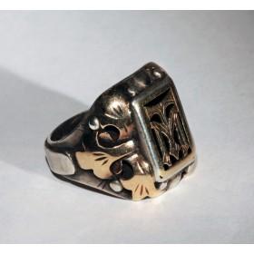 Старинное кольцо с монограммой ТМ