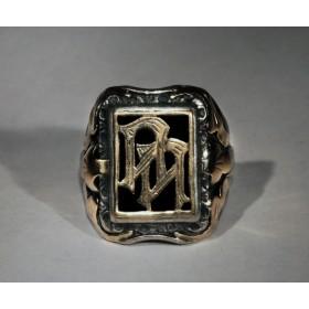 Старинное кольцо с монограммой АА