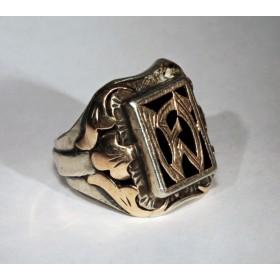 Старинное кольцо с монограммой WF