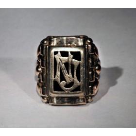 Старинное кольцо с монограммой JN