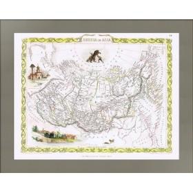Антикварная карта Азиатские владения Российской империи