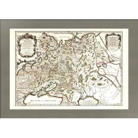 Старинная карта Белая Русь или Московия 1695 года
