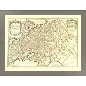 Белая Россия или Московия. Старинная карта. 1717