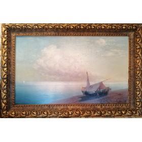 Картина с морским пейзажем