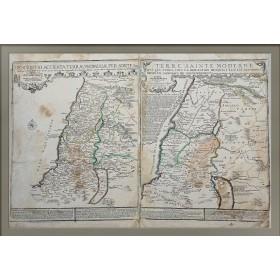 Старинная карта Святой Земли