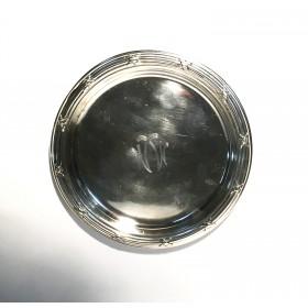 Посеребренная круглая тарелочка для сервировки