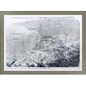 Севастопольская бухта с высоты птичьего полёта. Рельефная карта.