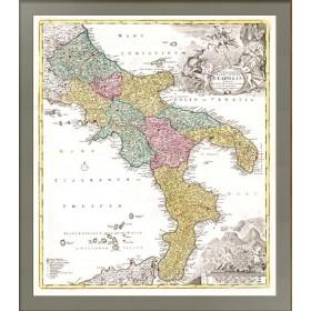 Карта. Неаполитанское королевство, 1730