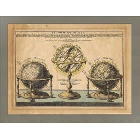 Карта с изображение сфер 1705 года выпуска