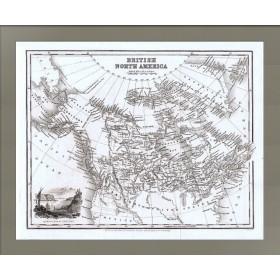 Антикварная карта Северной Америки