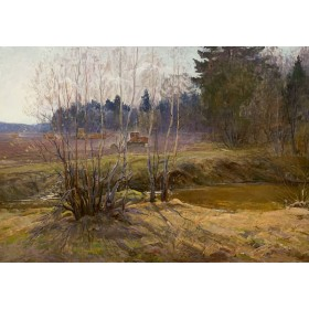 Картина К.Ф. Сергеева Весенняя пахота