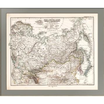 Карта Российской Империи, Монголии, Персии и Китая