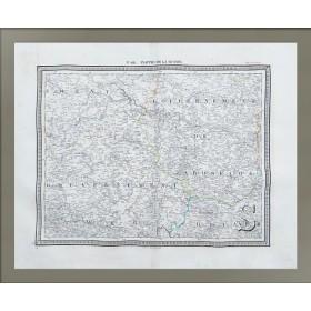 Карта Новгородская, Ярославская и Тверская губернии.