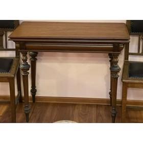Ломберный дубовый стол