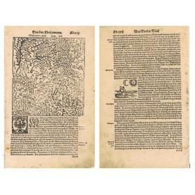Старинная карта Московия - земля московитов