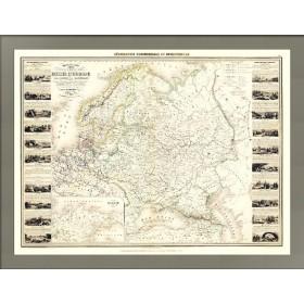 Гигантская карта Российской империи в Европе