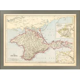 Антикварная карта Крыма. Джон Варфоломей-младший