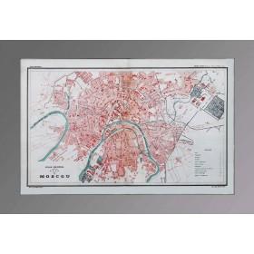 Антикварная карта Москвы 1886г. Антикварный план города