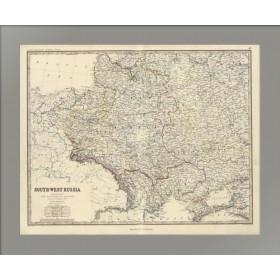 Карта Юго-западной части России и Королевства Польши до его раздела в 1772 году