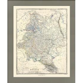 Карта всей Европейской части России кабинетного формата