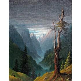 Старинная картина Путь в Агарти