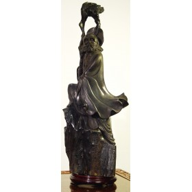 Бхадра,из Цейлонского эбенового дерева - антиквариат Востока